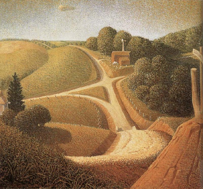 Grant Wood new-road-1939)