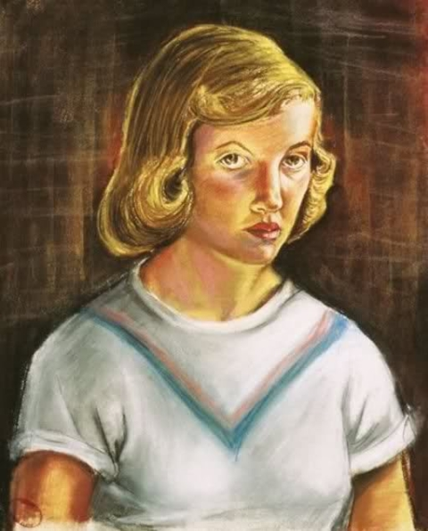 sylvia-plath self-portrait 1951